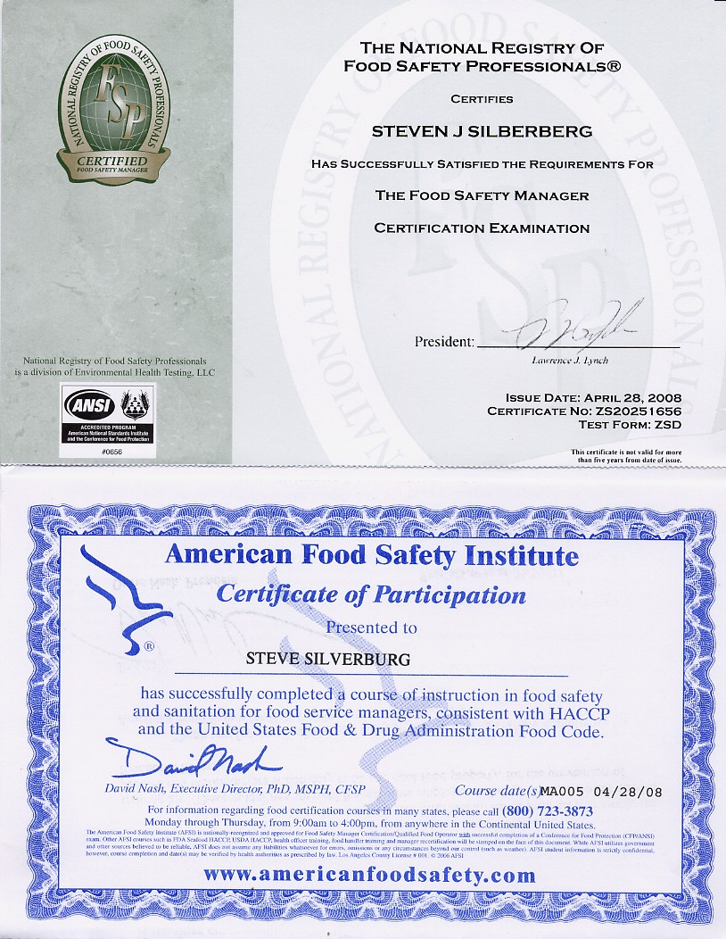 Food Safety Certification Texas Food